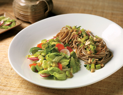 Spa Salad with Soba Noodle Salad from Organic Vibe by Sharon O'Connor