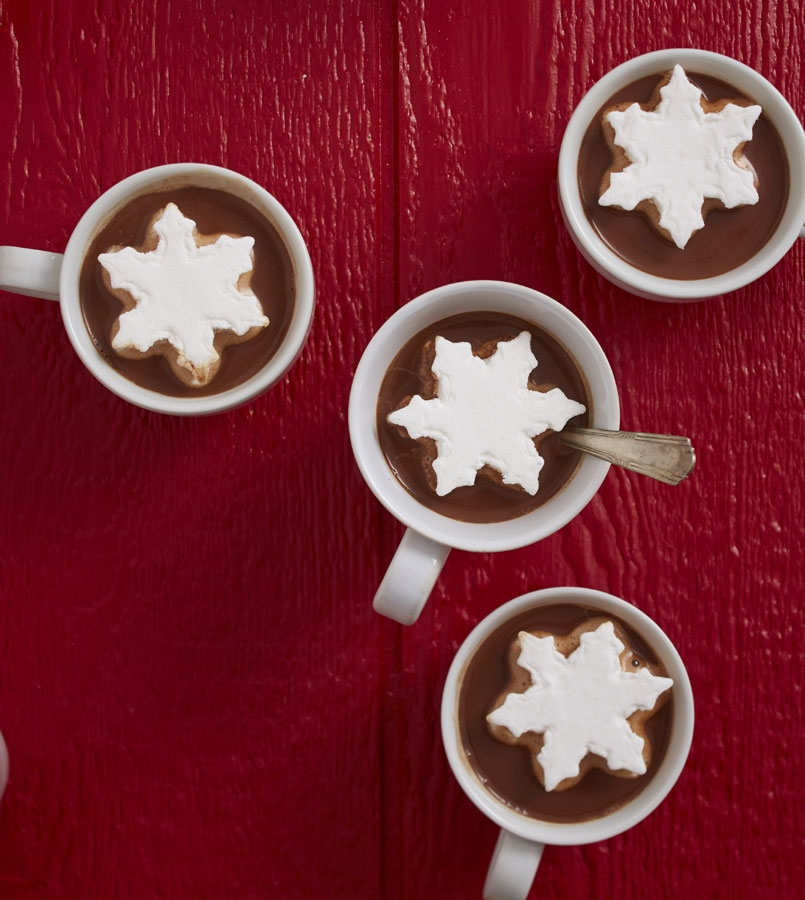 Belgian Hot Chocolate and Vanilla Snowflake Marshmallows