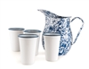 Blue & White Marble Pitcher