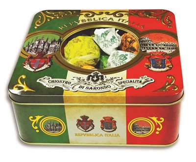 Italian Cookies in a Holiday Gift Tin
