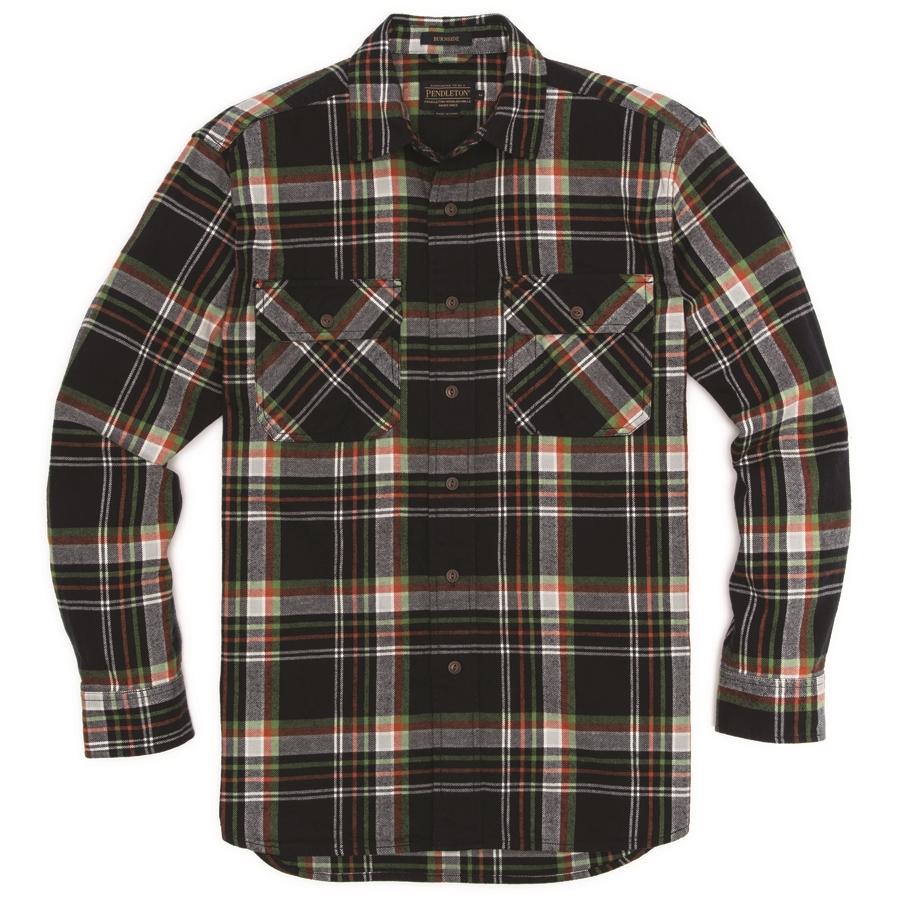 Pendleton Flannel Shirt In Navy Burnside Plaid