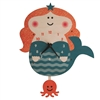 Mermaid Pendulum Clock