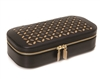 Chloe Zip Jewelry Case in Black