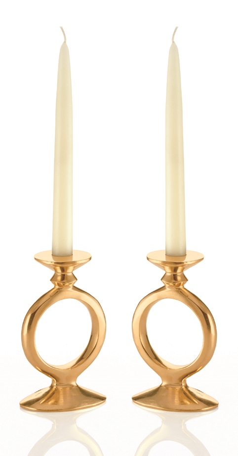 O Candle Holder In Gold