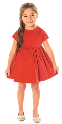 Cherry Red Velvet Sunday Dress