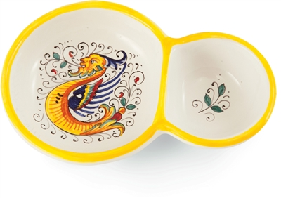 Deruta Double Olive Bowl