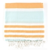 Apricot/Turquoise Turkish Towel