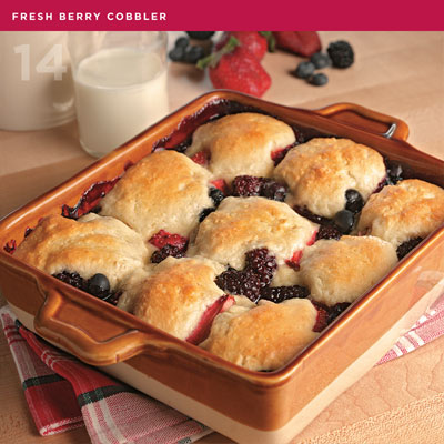 Fresh Berry Cobbler from Rock & Roll Comfort Cooking by Sharon O'Connor
