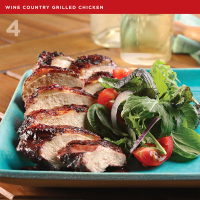 Wine Country Grilled Chicken from Grill to Thrill by Sharon O'Connor
