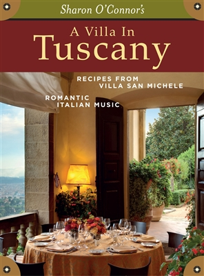 A Villa in Tuscany a box containing recipes from Tuscany and Italian music