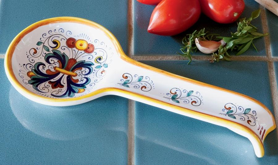 Deruta 11 Spoon Rest Ricco Deruta