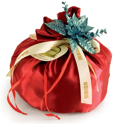 Panettone in Silky Red Cloth