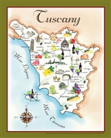 Tuscany Food Map