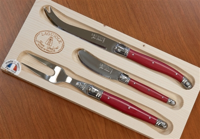 Laguiole Cheese Set - Red