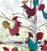 Adorable Rooster Ornaments