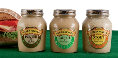 Trio of Mustards Made with Sierra Nevada Ales