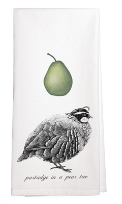 Partridge and Pear Kitchen Towel