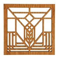 Lake Geneva Tulip Window Trivet - Frank Lloyd Wright  Design