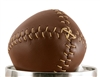 Brown 1850's Lemon Peel Leather Replica Baseball