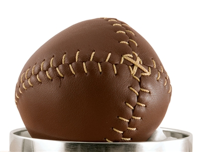 Brown 1850's Lemon Peel Leather Baseball
