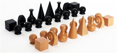 Man Ray Beech Wood Chess Pieces
