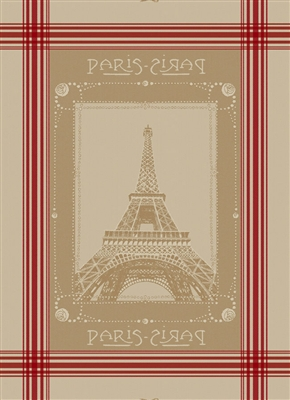 Eiffel Tower French Jacquard Kitchen Towel