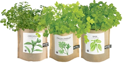 Garden In A Bag - Set of Basil, Oregano, and Parsley