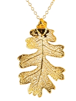 Lacey Oak Leaf 24kt gold Necklace