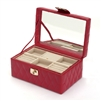 Leather Jewelry Box in Red