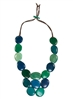 Blue/Green Gemma Necklace