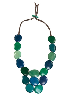 Blue and Green Necklace