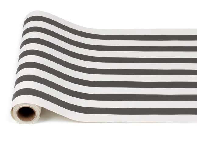 Black White Stripe Paper Table Runner