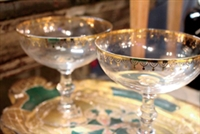 Vintage-Inspired Champagne Saucers (Set of Two)