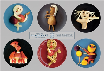 Funny Food Musicians Placemats