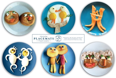 Funny Food Lovers Placemats