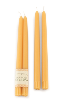4 Beeswax Taper Candles