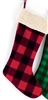 Red/Black Plaid Christmas Stocking