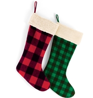 Green/Black Plaid Christmas Stocking