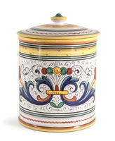 Deruta Cookie Jar and Canister