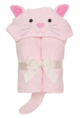 Pink Kitty Hooded Towel