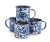 Blue & White Marble Mug (set of 4)