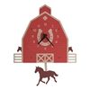 Red Barn Pendulum Clock