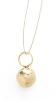 Gold Sphere Pendant Necklace