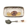 Spode Dish and Spoon