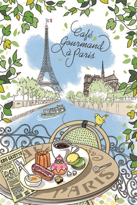 Cafe Gourmand French Kitchen Towel