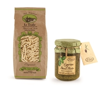 Pesto from Liguria with Organic Trofie Pasta