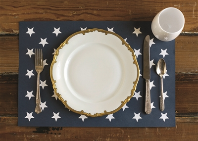 White Stars Placemats