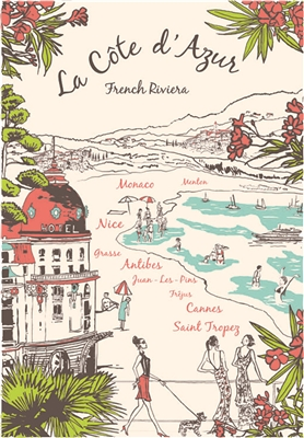 La Cote D'Azur Kitchen Towel