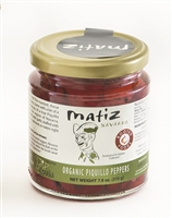 Glass jar of Matiz Organic Piquillo Peppers