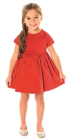 Girl's Dress - Cherry Red Velvet